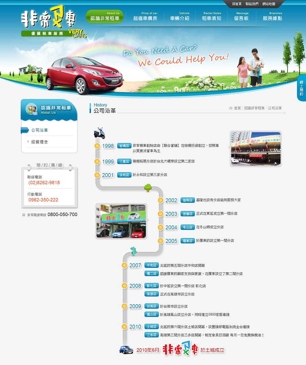 非常租車網頁設計